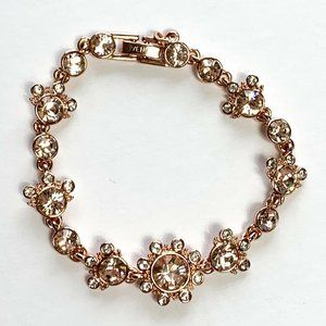 GIVENCHY Rose Gold Tone Crystal Bracelet